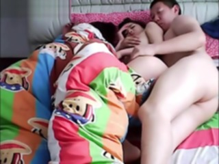 Chinese husband cheating on wife while she is sleeping. teens amateur asian