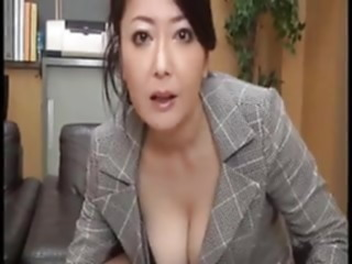 Indecent behavior of the Mature principal mature japanese girl masturbating